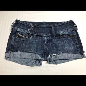 Diesel blue denim shorts